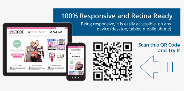 100 % Responsive and Retina Ready - Being responsive, it is easily accessible on any device (desktop, tables, mobile phone)