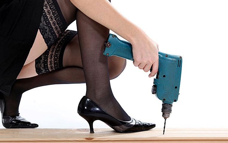 Even beautiful women can work