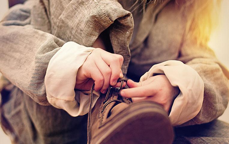 Examining the beauty of shoe